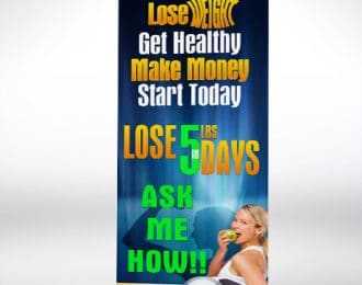 Lose 5N5 Retractable Banner