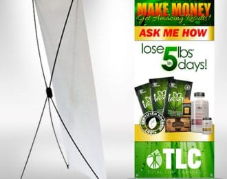 TLC Lose Weight Make Money XFrame Stand