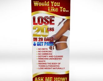 Lose 20 lbs Retractable Banner Premium
