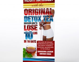 Original Detox Tea Retractable Banner Economy
