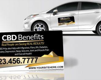 CBD Benefits Gold Yellow Black