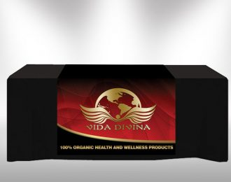 Vida Divina Logo Red Gold