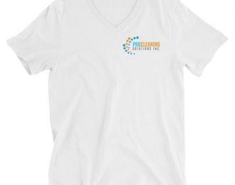 Pro Cleaning Unisex Short Sleeve V-Neck T-Shirt