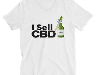CBD Unisex Short Sleeve V-Neck T-Shirt