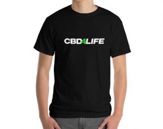 CBD Short-Sleeve T-Shirt 4life White text