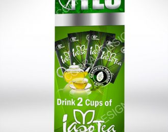 Drink 2 Cups of Tea Retractable Banner