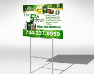 TLC Iaso Tea Yard Sign