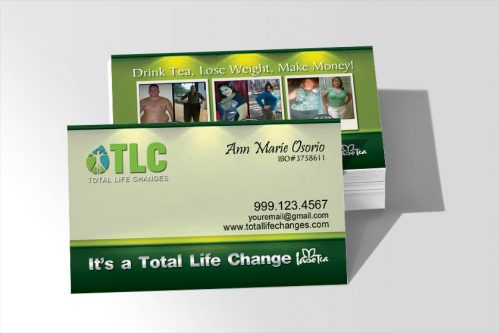 Total Life changes Business Cards