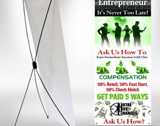 TLC Entrepreneur XFrame Banner stand