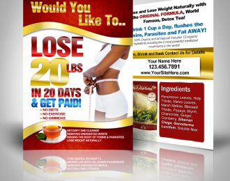 Lose 20 lbs in 20 Days Get Paid