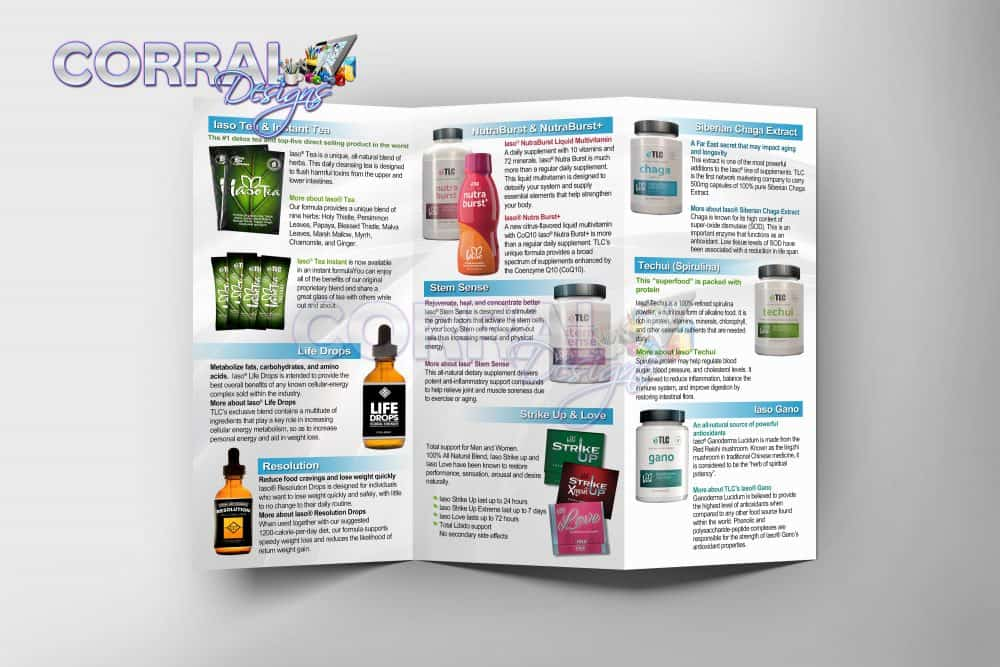 TLC TriFold Product Brochures – Corral Designs
