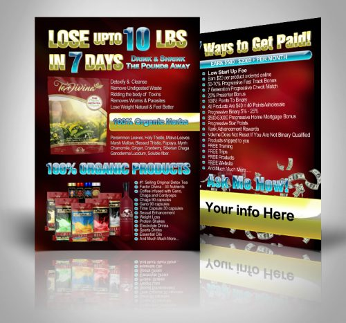 Lose upto 10 lbs in 7 Days Vida Divina Postcards