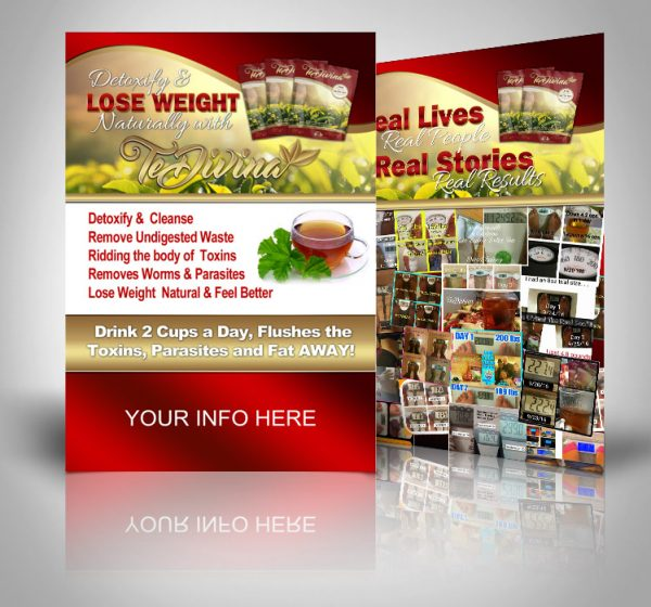 TeDivina Detox and Results Postcards