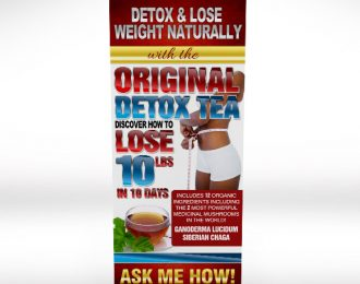 Original Detox Tea Retractable Banner Premium