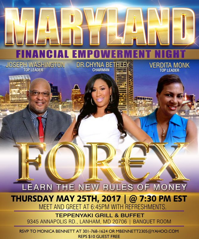 Forex Chyna Maryland Event