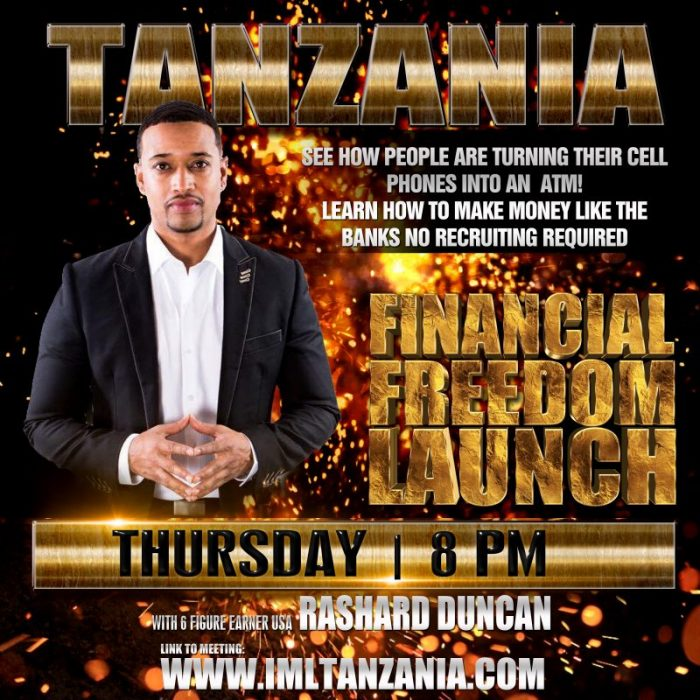 Tanzania Financial Freedom Launch Event