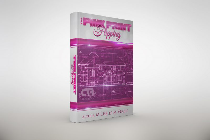The pink print book mockup