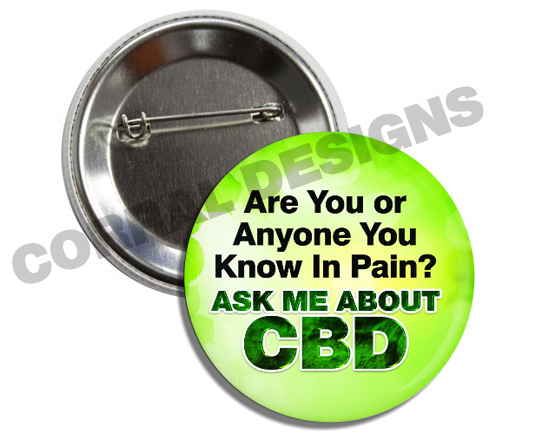 Ask Me About CBD Buttons