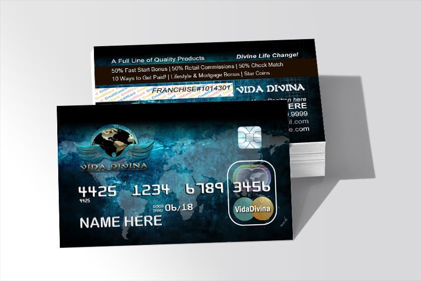 Vida divina credit card style corral designs vida divina business cards colourmoves