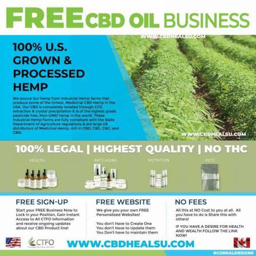 Free CBD Oil Business Social Media Banners