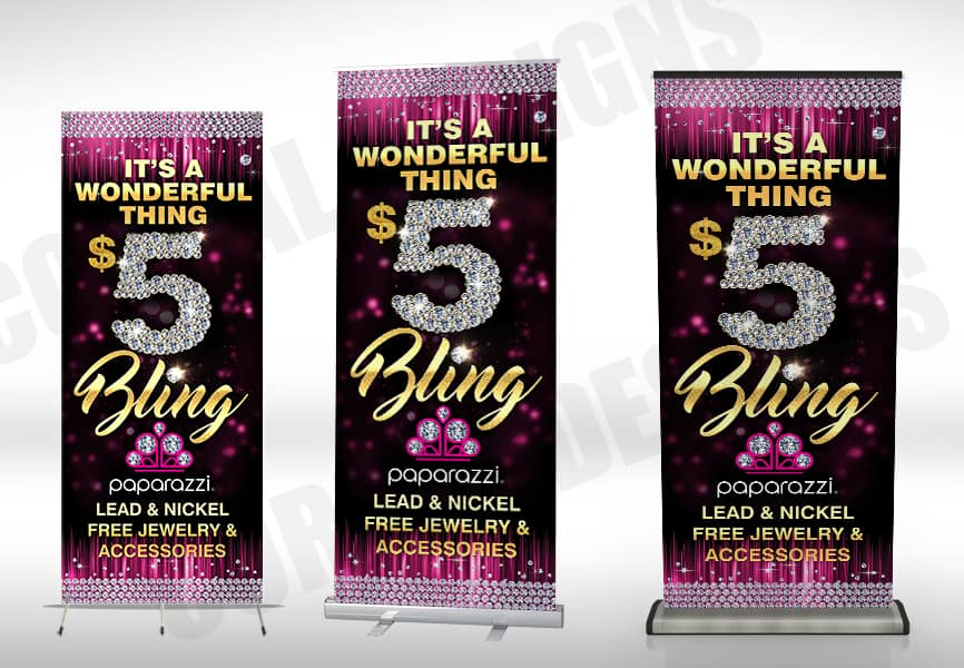 Paparazzi 5 Bling Banners Stands Corral Designs