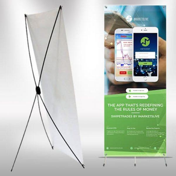 X-frame Banner IML SwipeTrades – Corral Designs