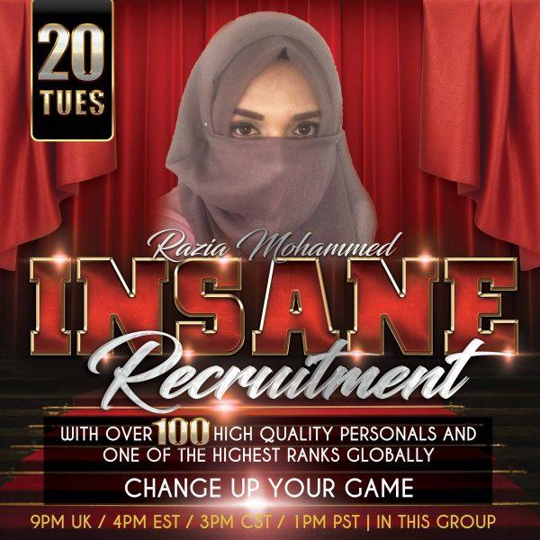 Insane Recrutment Razia Mohammed Event