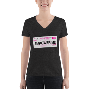 Paparazzi Empower Me Women's Fashion Deep V-neck T-Shirts
