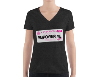 Paparazzi Empower Me Women's Fashion Deep V-neck Tee