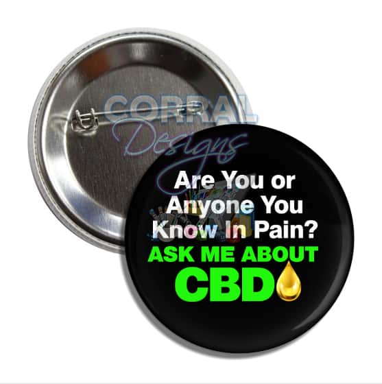 Ask Me About CBD Pins