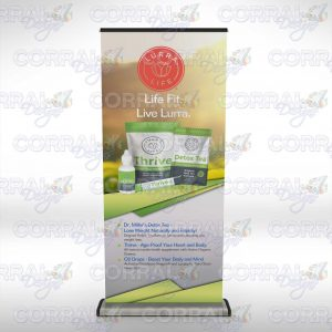 Lurra Life Banner Stand