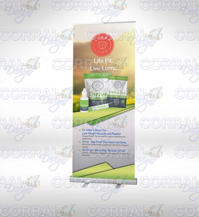 Lurra Life Banner Stands