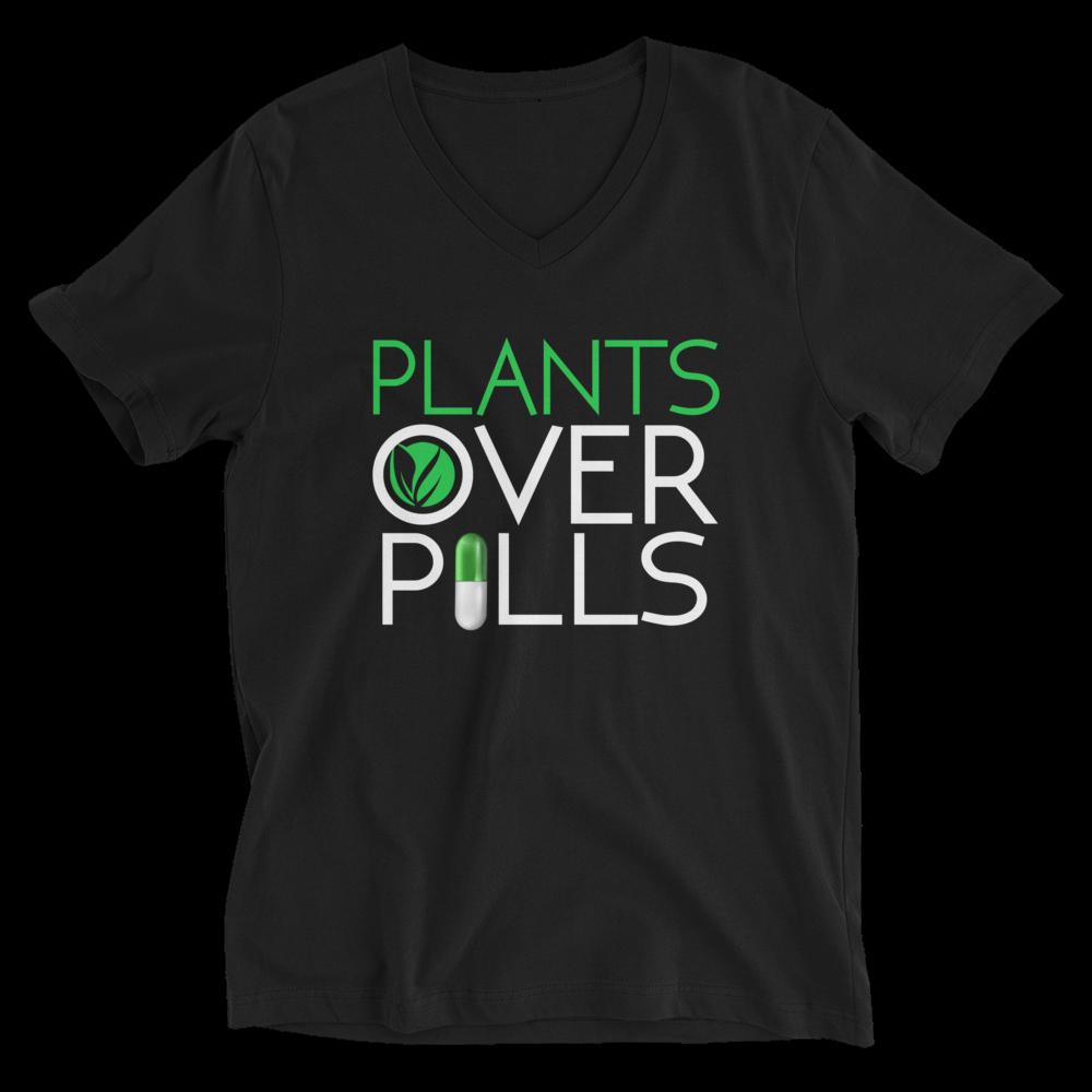 Plants Over Pills Shirt V-Neck Shirts
