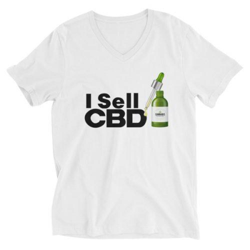 I Sell CBD V-Neck Shirts