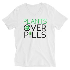 Plants Over Pills V-Neck Shirts