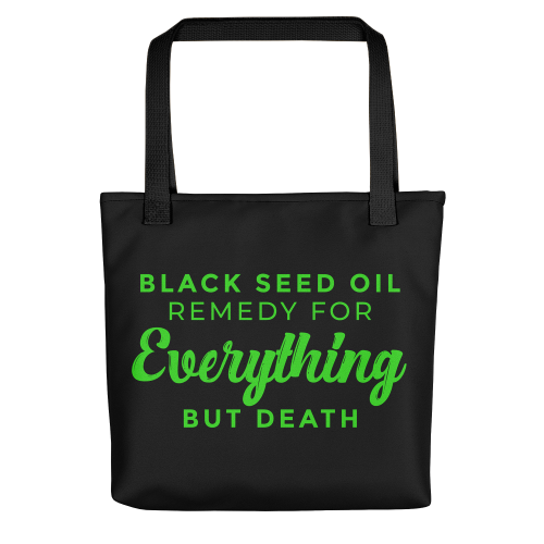 Black Seed Oil Tote Bag