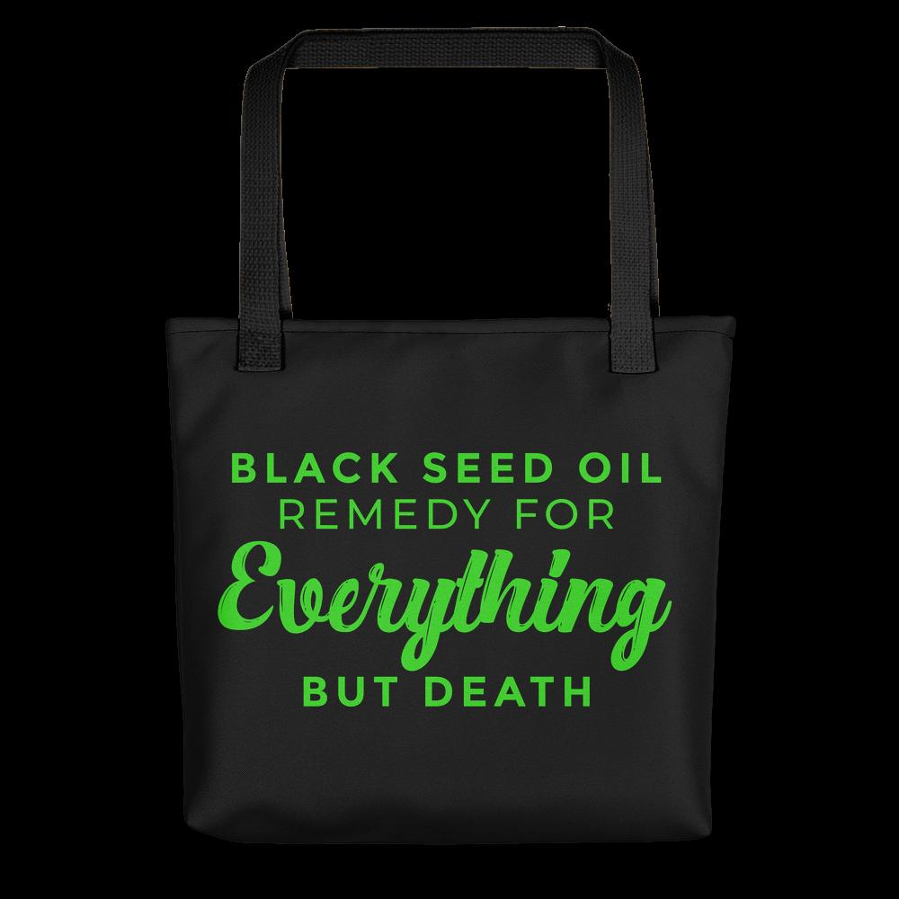 Black Seed Oil Tote Bag