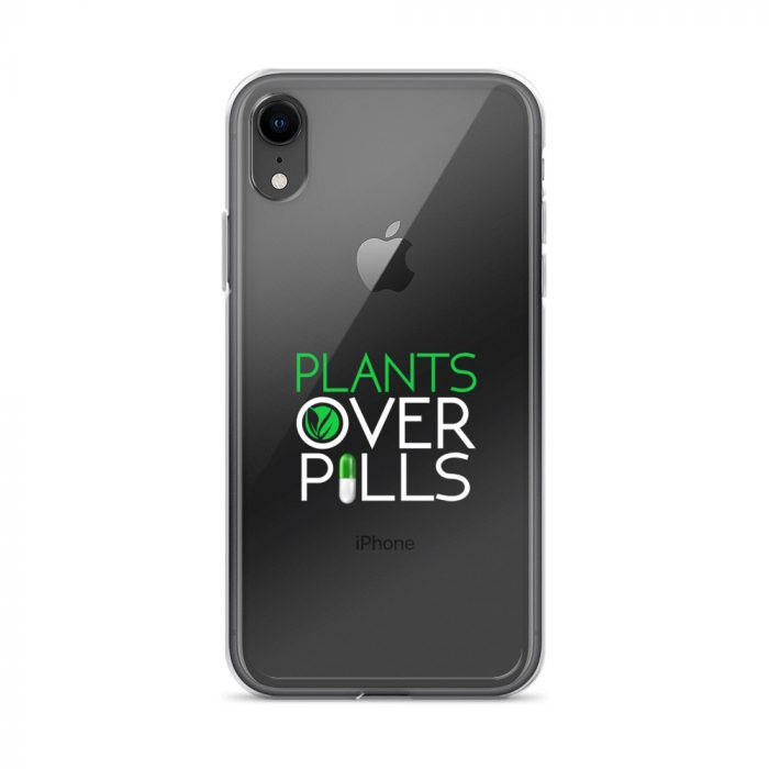 Plants Over Pills iPhone Case