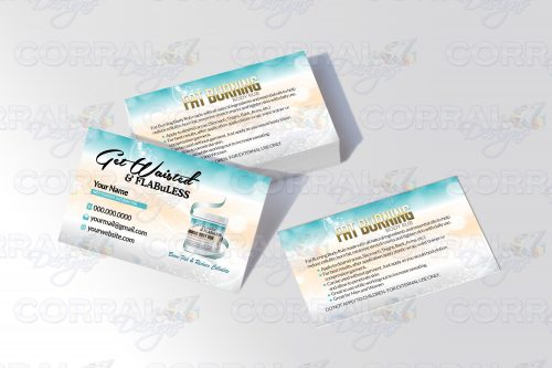 Get Waisted and Flabuless Business Cards