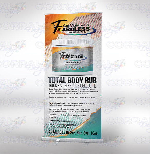 Get Waisted FlabuLess retractable banner