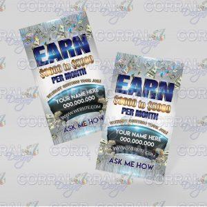 Earn $3000 - $5000 Business Cards