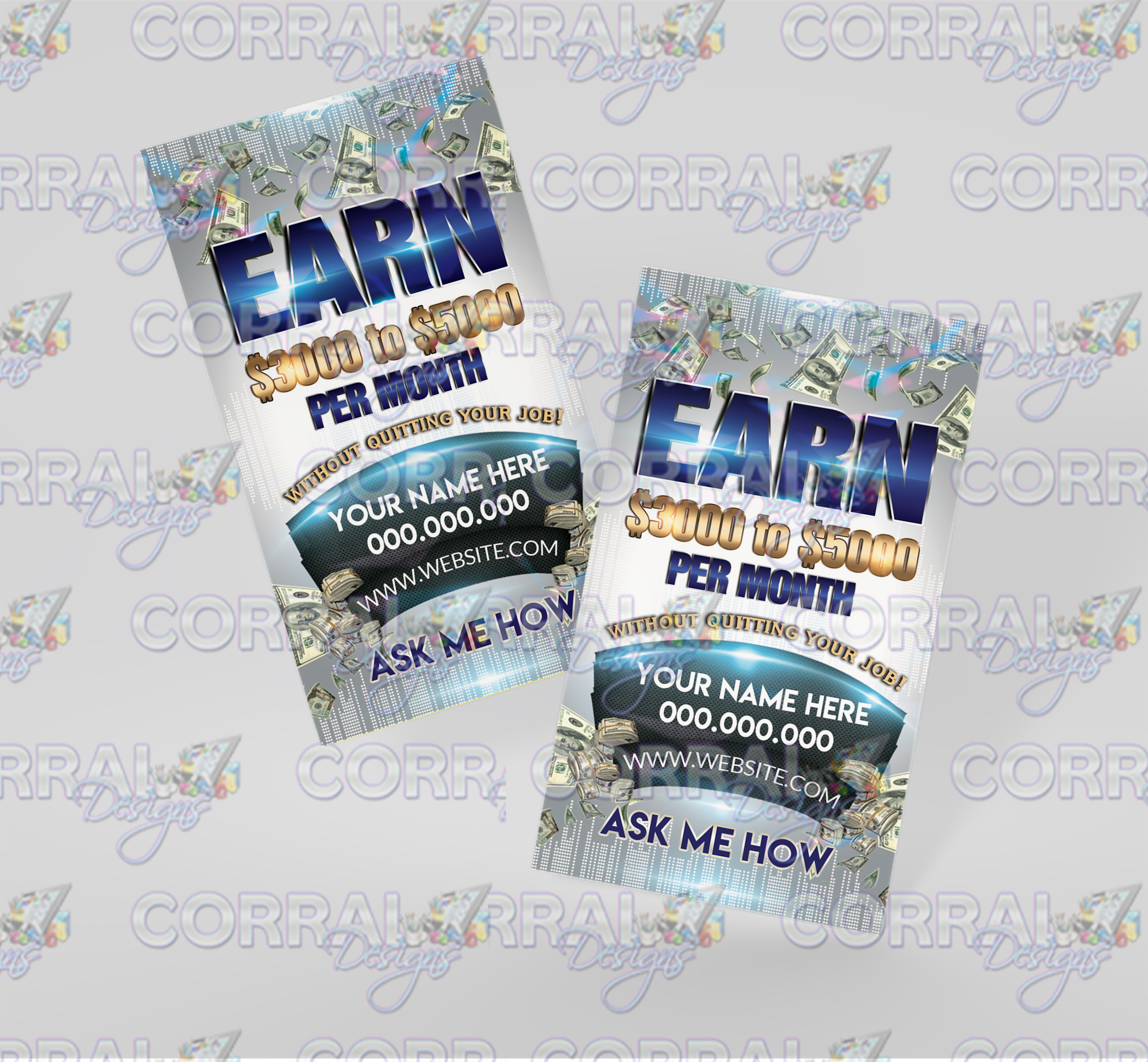 Earn $3000 - $5000 Business Cards