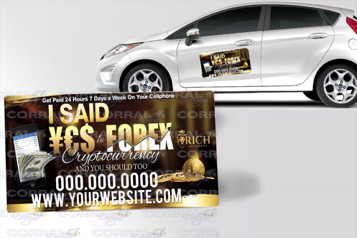 YES to FOREX Car Magnets