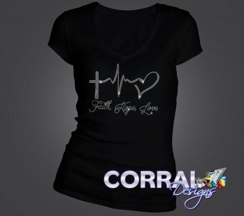Faith, Hope, Love Bling Shirt