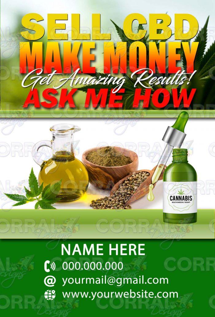 SELL CBD MAKE MONEY POSTCARDS
