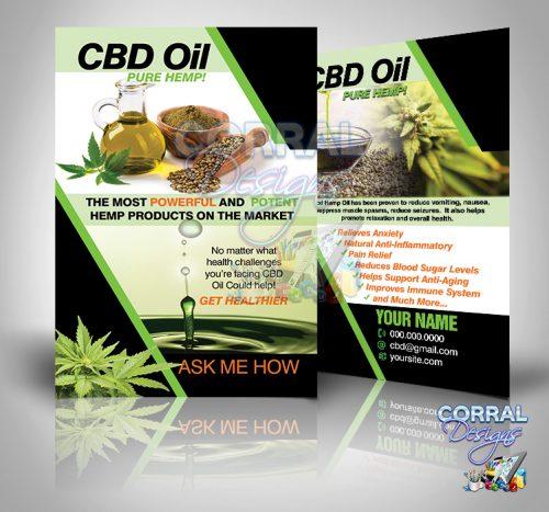 CBD Oil Pure Hemp Postcards