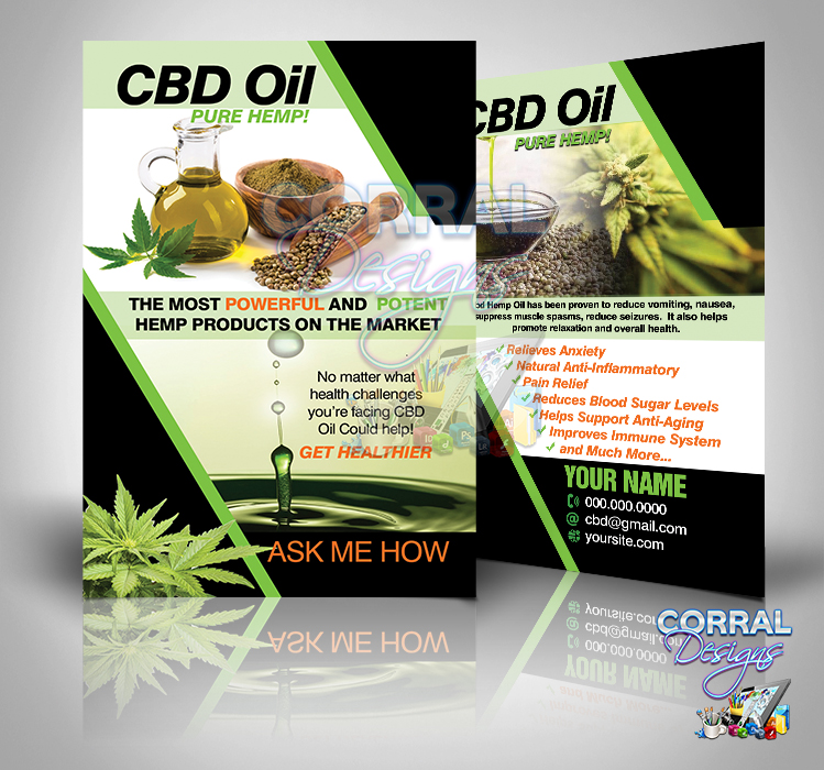 CBD Oil Pure Hemp Postcards