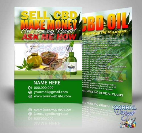 SELL CBD MAKE MONEY POSTCARDS