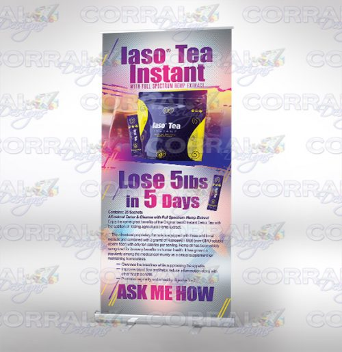 Total Life Changes TLC Iaso Tea retractable banner