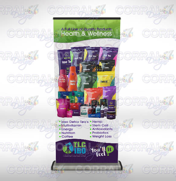 Total Life Changes TLC All Products retractable banner